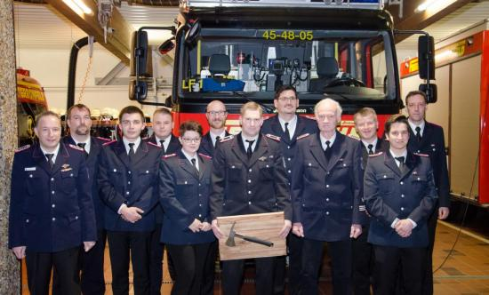 Bild - Jahreshauptversammlung der Feuerwehr Osterrönfeld – Ehrung für 60 Jahre und Brandschutzehrenzeichen in Silber für 25 Jahre