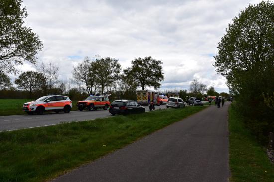 Bild - Schwerer Verkehrsunfall auf der B77 Höhe Spannan mit 4 Verletzten