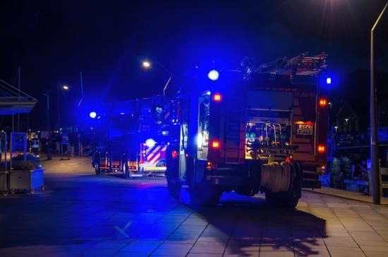 Bild - Großalarm im Hafengebiet von Eckernförde