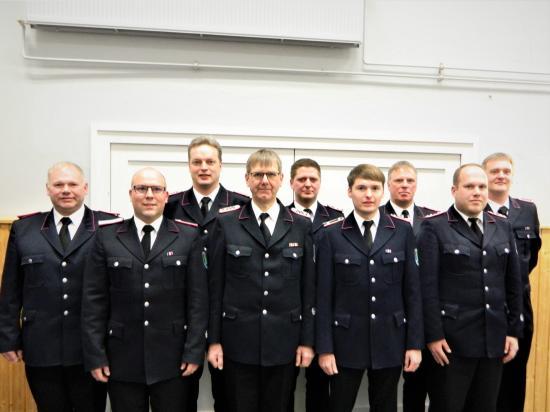 Bild - Jahreshauptversammlung in Beringstedt (Amt Mittelholstein) mit Wahlmarathon und vielen Ehrungen und Beförderungen