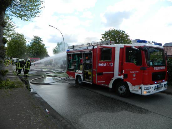 Bild - Werkstattbrand in Wasbek