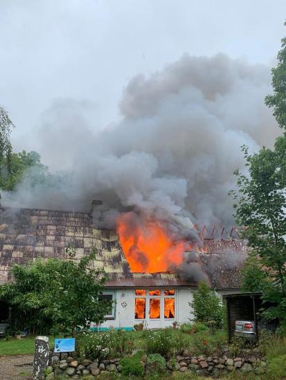 Bild - FEU 3: Tierheilpraxis in Güby niedergebrannt